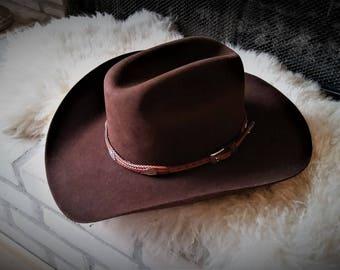 Brown 4X Beaver Stetson Western/Cowboy Hat