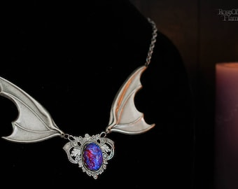 Bat wings jewelry. Wings necklace. Bat necklace. Bat jewelry. Goth necklace. Goth jewelry. Gothic necklace. Gothic jewelry