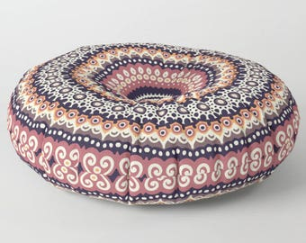 Floor Pillow Cushion, Stuffed Pouf, Floor Pillow Seating, Round Floor Cushions, Mandala Floor Pillow, Mandala Cushion, Indian Cushions