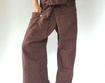 TC0001 Thai Fisherman Pants Wide Leg pants, Wrap pants, Unisex pants, Thai Fisherman Pants, Cotton