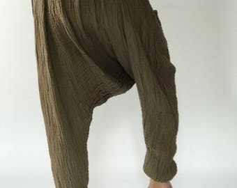 "HL0060 Harem Pants super soft rayon baggy unisex harem pants have the ""flow"", perfect of yoga"