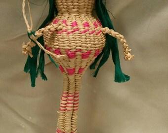 Vintage Indian Doll, Papago Indian Doll, Tohona Oodham, Indian Basket Doll
