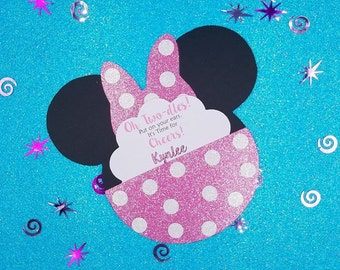 Minnie Mouse Invitations, Minnie Mouse Party, Minnie Mouse, 1st Birthday, Minnie Mouse Pull Out Invitations, Minnie Mouse, Minnie Birthday
