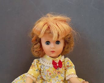 Dress up dolls Vintage Doll , 1950s Walker Doll , Sleep Eyes Doll , Doll 14 inches tall , Collectible doll , Mid century doll