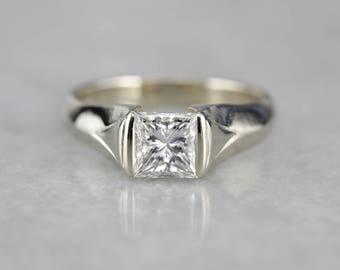 GIA Certified Princess Cut Diamond, Solitaire Engagement Ring, Diamond Engagement QL0E44-R