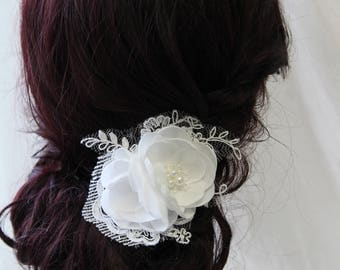 Bridal hair clip , Wedding hair piece , Bridal headpiece, Bridal hair piece  ,Wedding hair accessories, Flower  hair pin, UK