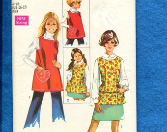 1969 Simplicity 8563 Smock or Jumper with Pockets Size LARGE 16/18