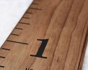 """Sale! 30% off - Growth Chart Ruler Add-On -- Custom Personalization Decal -- For the Side - """"No Tippy Toes"""""""