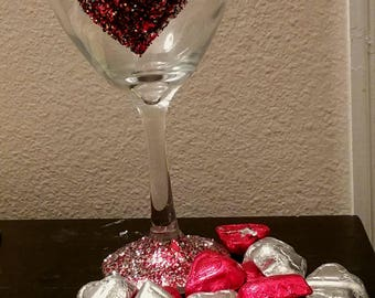 Valentine's Heart Glass