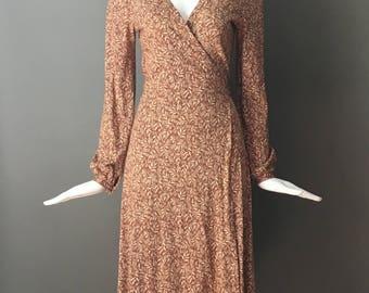 Gorg Vtg 70s DVF Diane Von Furstenberg Jersey Classic Thread Through Wrap Dress 10 M