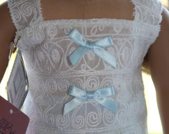 White Camisole with Silk Seaform Gingham Skirt
