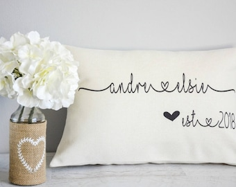 Anniversary Gift   Wedding Gift   Gifts for Couples   Personalized Throw Pillow   Engagement Gift