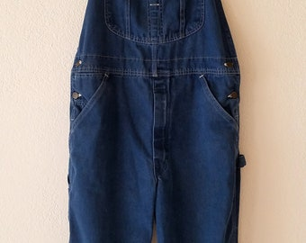 Roebuck Overalls Made in USA Denim 70s Coveralls Sears WearTUFF Industrial Workers Grease
