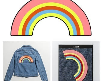 Rainbow Colorful Large Embroidered Sticker Patch Good Gals Collection