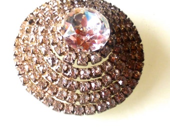 Vintage 1930s  French Crystal Beehive Brooch