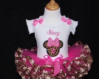 Minnie Mouse Birthday Tutu Outfit,  2nd birthday girl outfit ,  2nd birthday outfit girl,  cake smash outfit,  second birthday, ribbon trim