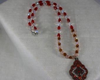 Glass Beads,Pendant,Necklace,handmade,jewelry,bollywood,bollywood pendant,pendant,bollywood necklace,pearl necklace,bollywood jewelry