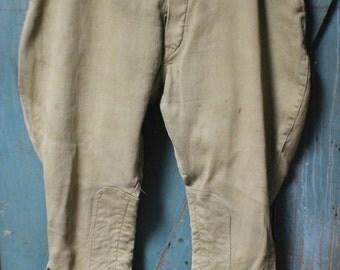 Vintage Mens Work Pants, 1920's Mens Breeches