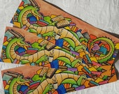 Book Wyrm Bookmark - Dragon - Books - Double Sided - Cute - Fantasy - Watercolours