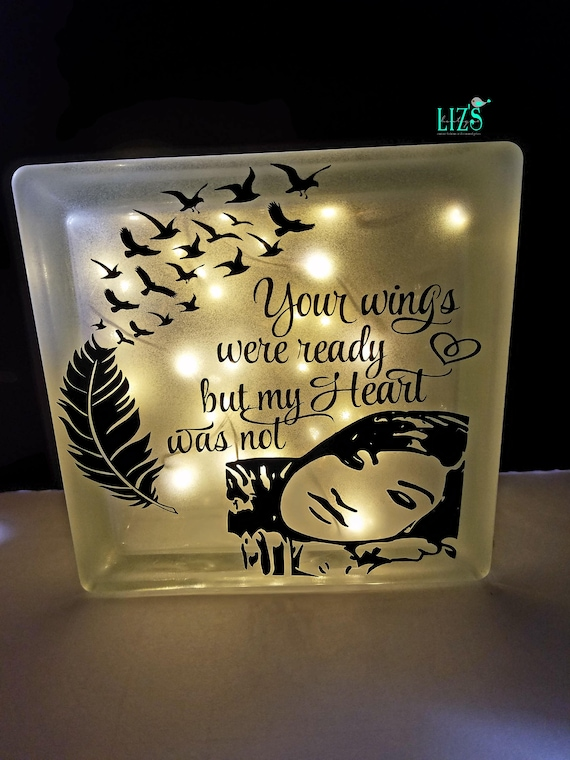 Memorial glass block glass block with custom photo option for Glass block options