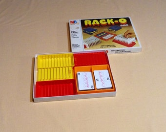 Vintage RACK-O Game - 1978 Racko, Milton Bradley - Classic Card Game, Family Fun - Complete
