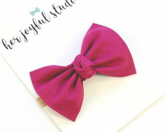 Purple Bow Headband - Purple Bow - Nylon Headband - Baby Bows - Baby Headbands - Newborn Headband - Baby Girl Headband - Newborn Hair Bow