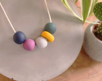 Polymer Clay Necklace // The Original Collection // Colourful