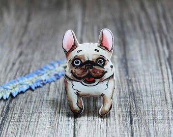 French bulldog gift Dog pin Dog brooch Dog lover gift Pet lover gift French bulldog jewelry Dog gifts Dog jewelry Pet jewelry Kids gifts