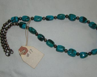 T-17  Native American Necklace Turquoise stones