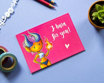 Sassy Cute Monster Postcards - Lovely Monsters für Love, Friendship and just because