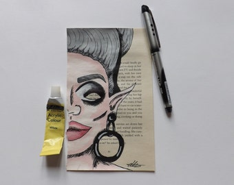 Upcycled book page Bianca Del Rio - Original piece