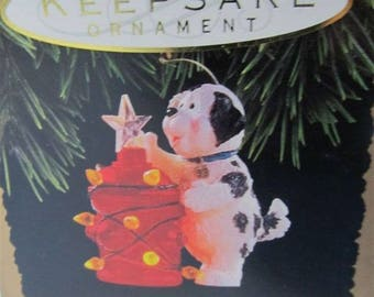 1993 Hallmark Keepsake Christmas Ornament Dog's Best Friend Lighted Magic In Box  Collectible Collector Holiday Gift