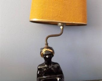 Rare Vintage Ceramic Moroccan Gennie Wall Lamp Home Decor 1950's