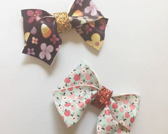 Leather Bows, faux leather bows, bows, headbands, Hair bows