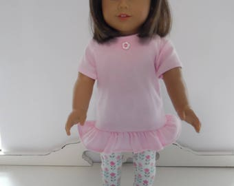 American Girl Drop Waist Knit Dress with Headband, Leggings and Shoes