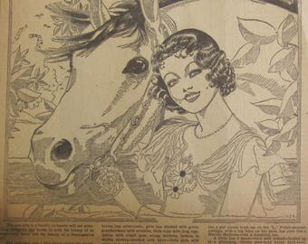 Original 1932 Newspaper Clipping - Class By Nell Brinkley