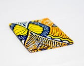 Card Holder African Print - Credit Card Wallet - Oyster Card Holder - Travelcard Wallet - Business Card Case - Yellow abstract