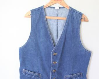 vintage LEE denim blue western vest *