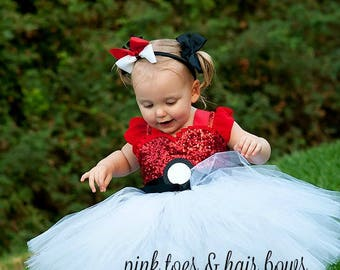 Pokeball tutu dress- pokemon costume- pikachu tutu-kisses dress-pokemon dress-pikachu costume-pokemon