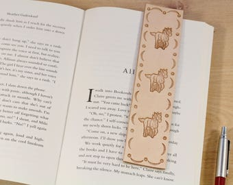 Horse Bookmark Leather Bookmark Horse Lover Gift Bookmark Horse Gift For Friend Bookmarker Leather Anniversary Gift Running Horse Bookmarker