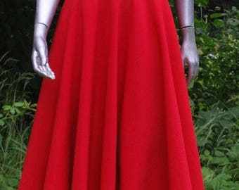 1980s RED & BLACK DRESS (By Zandra Rhodes)