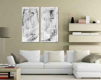 """R E A D Y For Shipping: Fine ART """"Statement"""" - Textured Abstract Wall Hanging, Unique Canvas Painting by MartinK. Handpainted wall art"""