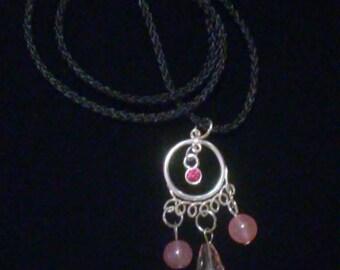 Rose Quartz Circle Necklace