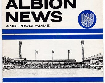 Vintage Football (soccer) Programme - West Bromwich Albion v Burnley, 1964/65 season