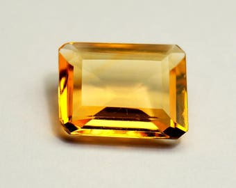 Citrine Octagon Shape Gemstone Size 10.7X8.7X3.8 mm Unique Citrine Gems Genuine Citrine Stones
