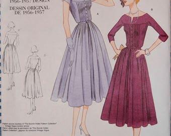 Vintage Vogue 1044 Dress Pattern from 1956-1957