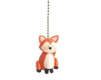 Woodland Fox Fan Pull Chain, Decorative Pull Chain