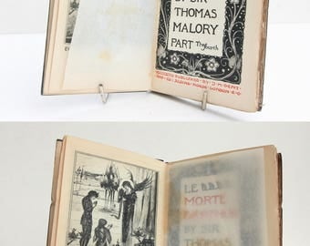 Malory's Le Morte Darthur 1897 Vintage Book Hardback History Knights Round table Anique History Myth