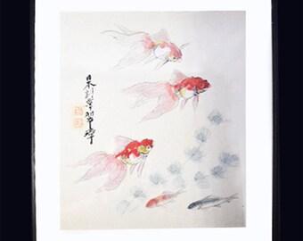 Vintage Koi Watercolor