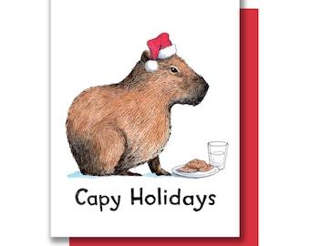 Capy Holidays Capybara Happy Holiday Christmas Card